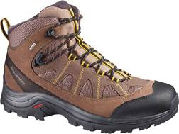 "Salomon Authentic LTR GTX 5"" Waterproof Hiking Boots Leather/Synthetic Brown Men's"