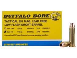 Buffalo Bore Ammunition 357 Magnum Short Barrel 140 Grain Barnes TAC-XP Hollow Point Low Flash Le...