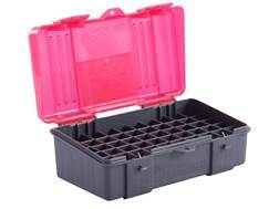 Plano Ammo Box 44 Special, 44 Remington Magnum, 45 Colt 50-Round Plastic Dark Gray and Clear Rose