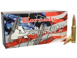 Hornady American Gunner Ammunition 308 Winchester 155 Grain Hollow Point Boat Tail Box of 50