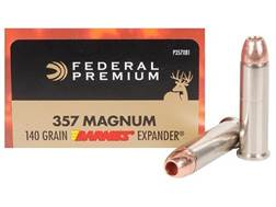 Federal Premium Vital-Shok Ammunition 357 Magnum 140 Grain Barnes XPB Hollow Point Lead-Free Box ...