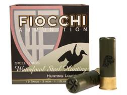 "Fiocchi 34 Speed Steel Ammunition 12 Gauge 3"" 1-1/5 oz #2 Non-Toxic Plated Steel Shot Box of 25"