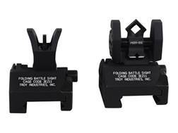 Troy Industries Micro Flip-Up Battle Sight Set M4-Style Front and Di-Optic Aperture (DOA) Rear AR...