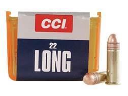 CCI Ammunition 22 Long 29 Grain Copper Plated Lead Round Nose