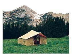 Montana Canvas Spike 3 12' x 12' Tent with Sewn-In Floor, 3 Windows, Screen Door, Aluminum Frame ...
