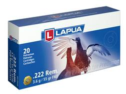 Lapua Ammunition 222 Remington 55 Grain Full Metal Jacket Box of 20