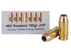 Cor-Bon Self-Defense Ammunition 460 Rowland 185 Grain Jacketed Hollow Point Box of 20