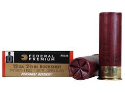 "Federal Premium Personal Defense Ammunition 12 Gauge 2-3/4"" Reduced Recoil #4 Buckshot 34 Pellets"