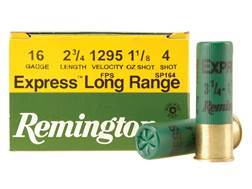 "Remington Express Extra Long Range Ammunition 16 Gauge 2-3/4"" 1-1/8 oz #4 Shot Box of 25"