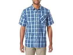 5.11 Men's Breaker Button-Up Shirt Short Sleeve Polyester Admiral Small