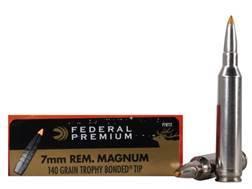 Federal Premium Vital-Shok Ammunition 7mm Remington Magnum 140 Grain Trophy Bonded Tip Box of 20