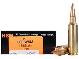 HSM Trophy Gold Ammunition 300 Winchester Short Magnum (WSM) 185 Grain Berger Hunting VLD Hollow ...