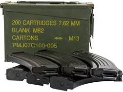 Military Surplus Magazine AK-47 7.62x39mm 30-Round Steel Matte Quantity of 6 Packed in Surplus Am...