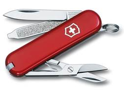 Victorinox Swiss Army Classic SD Folding Pocket Knife 7 Function Stainless Steel Blade Polymer Ha...