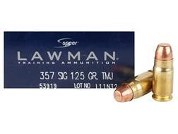 Speer Lawman Ammunition 357 Sig 125 Grain Total Metal Jacket Box of 50