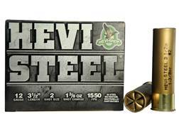 "Hevi-Shot Hevi-Steel Waterfowl Ammunition 12 Gauge 3-1/2"" 1-3/8 oz #2 Non-Toxic Shot"
