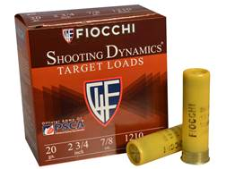 "Fiocchi Shooting Dynamics Ammunition 20 Gauge 2 3/4"" 7/8 oz #7.5 Shot"