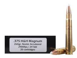Doubletap Ammunition 375 H&H Magnum 260 Grain Nosler AccuBond Spitzer Box of 20