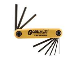 """Bondhus Fold-Up Hex Key Wrench Set 1/20"""" to 3/16"""""""