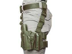 BLACKHAWK! Serpa Level 2 Tactical Thigh Holster Left Hand 1911 Government with or without Rail Po...