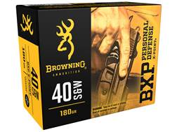 Browning BXP Personal Defense Ammunition 40 S&W 180 Grain X-Point