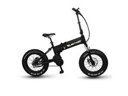 QuietKat 750W Motorized Folding FatKat Bike with Internal Motor and Carbon Belt Drive