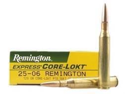 Remington Express Ammunition 25-06 Remington 120 Grain Core-Lokt Pointed Soft Point Box of 20