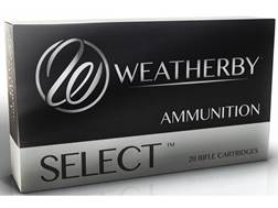 Weatherby Select Ammunition 240 Weatherby Magnum 100 Grain Norma Spitzer Box of 20