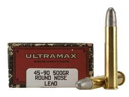 Ultramax Cowboy Action Ammunition 45-90 WCF 500 Grain Lead Round Nose Box of 20