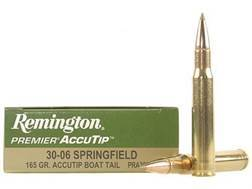 Remington Premier Ammunition 30-06 Springfield 165 Grain AccuTip Boat Tail Box of 20