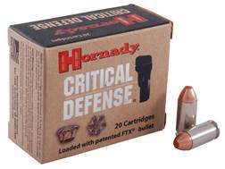 Hornady Critical Defense Ammunition 40 S&W 165 Grain Flex Tip eXpanding Box of 20