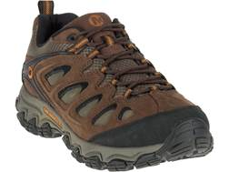 """Merrell Pulsate Low 4"""" Hiking Shoes Leather and Suede Black/Bracken Men's"""