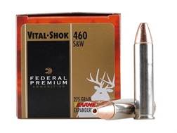 Federal Premium Vital-Shok Ammunition 460 S&W Magnum 275 Grain Barnes XPB Hollow Point Lead-Free ...