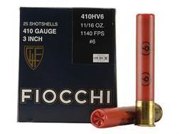"Fiocchi High Velocity Ammunition 410 Bore 3"" 11/16 oz #6 Shot Box of 25"