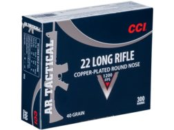 CCI Tactical Ammunition 22 Long Rifle 40 Grain Plated Lead Round Nose Box of 300