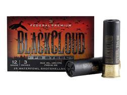 "Federal Premium Black Cloud Ammunition 12 Gauge 3"" 1-1/4 oz BB Non-Toxic FlightStopper Steel Shot"