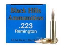 Black Hills Remanufactured Ammunition 223 Remington 68 Grain Match Hollow Point Box of 50
