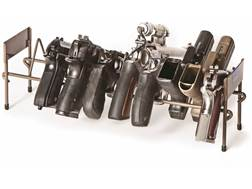 Rack'Em Racks Stackable Pistol Rack Brown