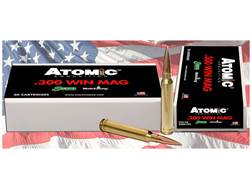 Atomic Ammunition 300 Winchester Magnum 220 Grain Sierra Match King Box of 20