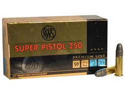 RWS Super Pistol 250 Ammunition 22 Long Rifle 40 Grain Lead Round Nose