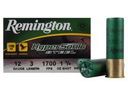 "Remington HyperSonic Ammunition 12 Gauge 3"" 1-1/4 oz #3 Non-Toxic Shot"