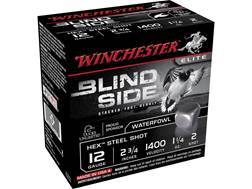 "Winchester Blind Side Ammunition 12 Gauge 2-3/4"" 1-1/4 oz #2 Non-Toxic Steel Shot"
