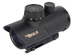 "BSA Huntsman Red Dot Sight 1x 30mm 5 MOA Red, Green and Blue Dot Plex Reticle with Integral 3/8"" ..."