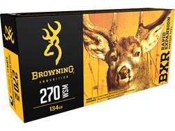 Browning BXR Rapid Expansion Ammunition 270 Winchester Short Magnum (WSM) 134 Grain Matrix Tip