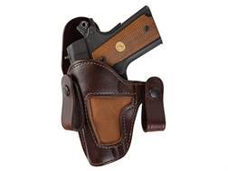 Bianchi 120 Covert Option Inside the Waistband Holster Left Hand 1911 Officer Leather Brown