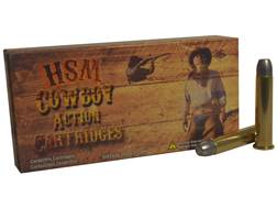 HSM Cowboy Action Ammunition 45-70 Government 405 Grain Hard Cast Flat Nose Triple Lube Groove Bo...