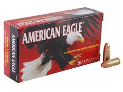 Federal American Eagle Ammunition 9mm Luger 124 Grain Full Metal Jacket Box of 50