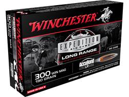 Winchester Expedition Big Game Long Range Ammunition 300 Winchester Magnum 190 Grain Nosler Accub...