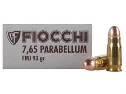 Fiocchi Ammunition 30 Luger 93 Grain Full Metal Jacket Box of 50