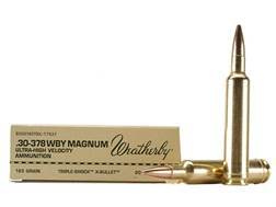 Weatherby Ammunition 30-378 Weatherby Magnum 165 Grain Barnes Triple-Shock X Bullet Hollow Point ...